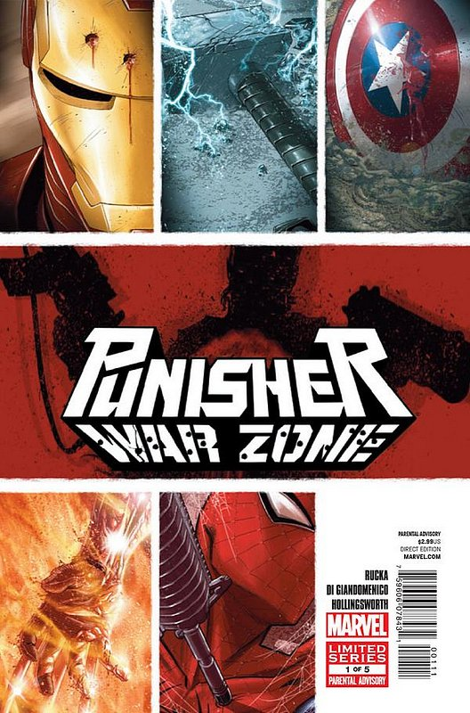 Cover of Punisher War Zone (2012 Ltd) #1. One of 250,000 Vintage American Comics on sale from Krypton!