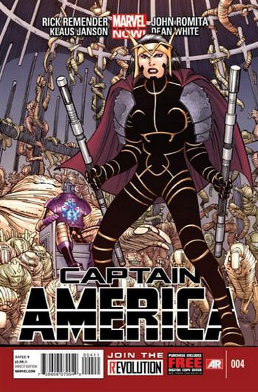 Cover of Captain America (Vol 7) #4. One of 250,000 Vintage American Comics on sale from Krypton!