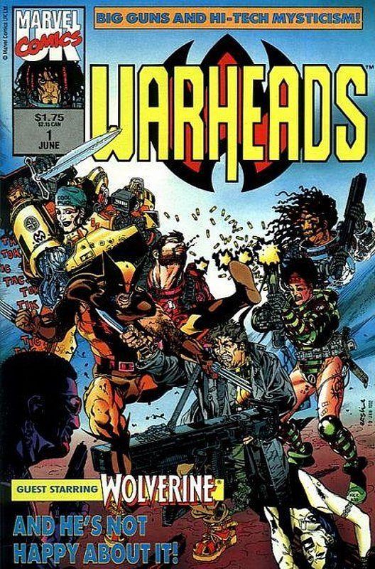 Cover of Warheads (Vol 1) #1. One of 250,000 Vintage American Comics on sale from Krypton!