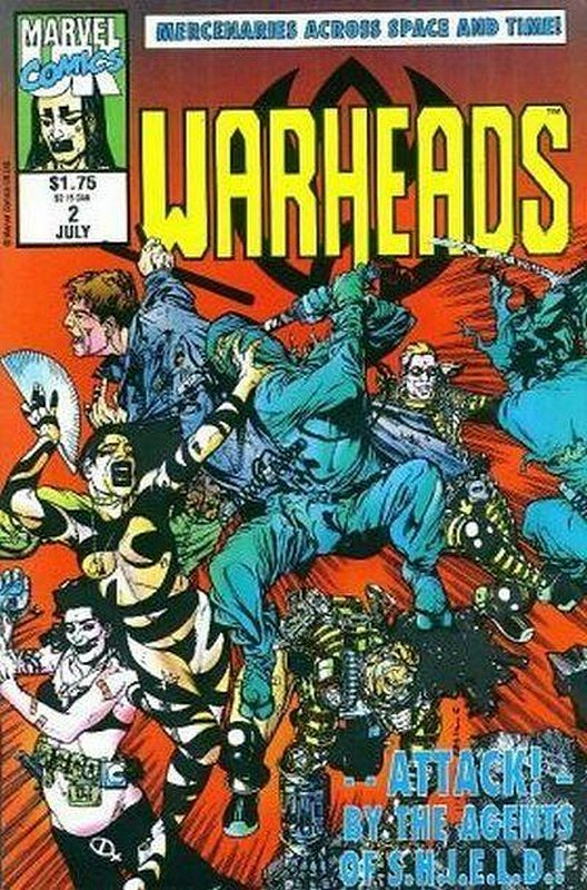 Cover of Warheads (Vol 1) #2. One of 250,000 Vintage American Comics on sale from Krypton!