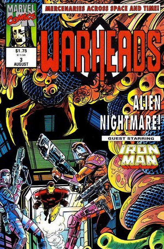 Cover of Warheads (Vol 1) #3. One of 250,000 Vintage American Comics on sale from Krypton!