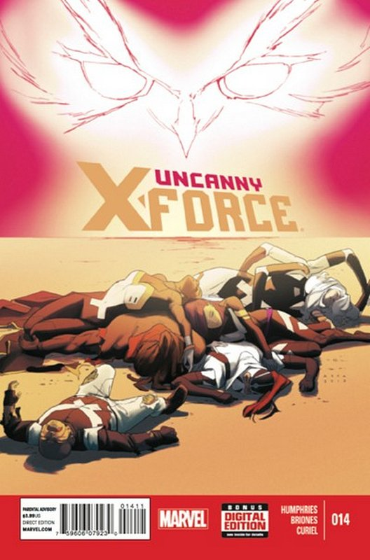 Cover of Uncanny X-Force (Vol 2) #14. One of 250,000 Vintage American Comics on sale from Krypton!