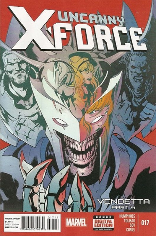 Cover of Uncanny X-Force (Vol 2) #17. One of 250,000 Vintage American Comics on sale from Krypton!