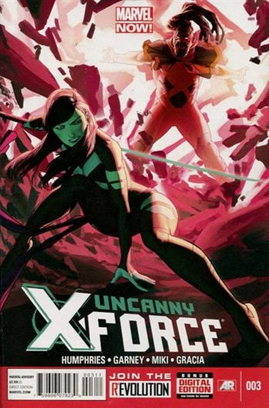 Cover of Uncanny X-Force (Vol 2) #3. One of 250,000 Vintage American Comics on sale from Krypton!