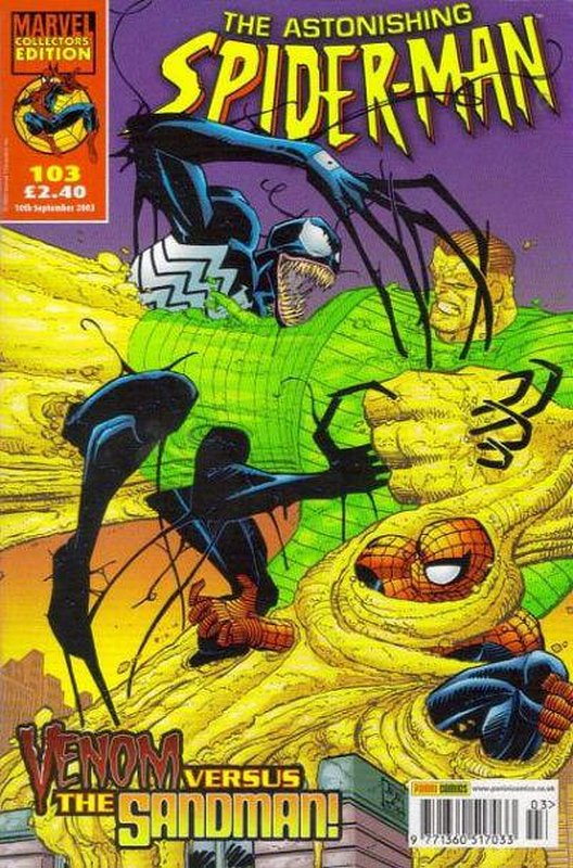 Cover of Astonishing Spider-Man (Vol 1) (UK) #103. One of 250,000 Vintage American Comics on sale from Krypton!