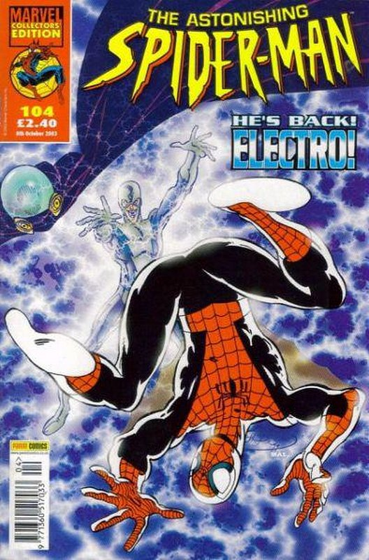 Cover of Astonishing Spider-Man (Vol 1) (UK) #104. One of 250,000 Vintage American Comics on sale from Krypton!
