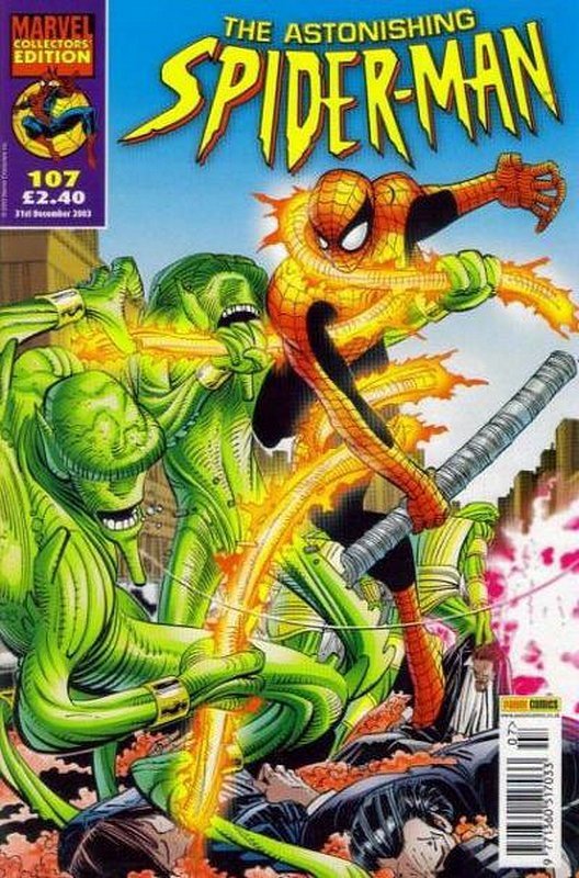 Cover of Astonishing Spider-Man (Vol 1) (UK) #107. One of 250,000 Vintage American Comics on sale from Krypton!
