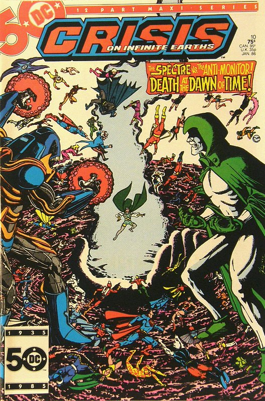 Cover of Crisis on Infinite Earths (1985 Ltd) #10. One of 250,000 Vintage American Comics on sale from Krypton!