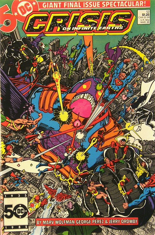 Cover of Crisis on Infinite Earths (1985 Ltd) #12. One of 250,000 Vintage American Comics on sale from Krypton!