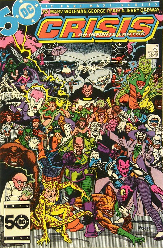 Cover of Crisis on Infinite Earths (1985 Ltd) #9. One of 250,000 Vintage American Comics on sale from Krypton!