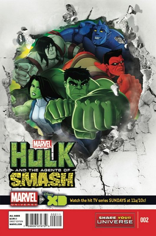 Cover of Hulk: Agents of Smash (2013 Ltd) #2. One of 250,000 Vintage American Comics on sale from Krypton!