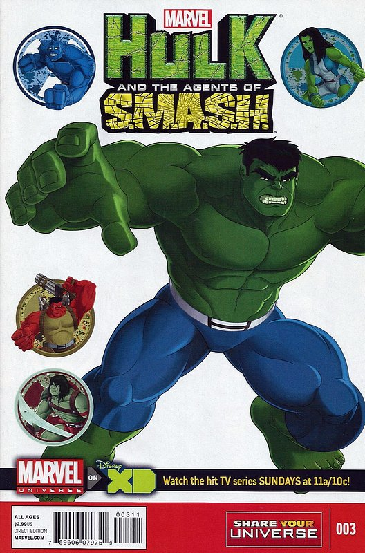 Cover of Hulk: Agents of Smash (2013 Ltd) #3. One of 250,000 Vintage American Comics on sale from Krypton!