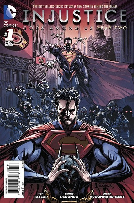 Cover of Injustice: Gods Among Us - Year Two #1. One of 250,000 Vintage American Comics on sale from Krypton!