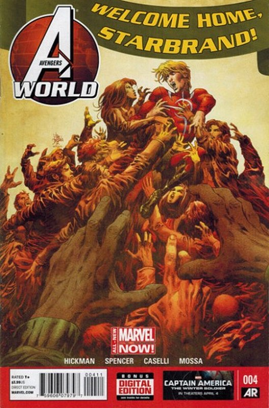 Cover of Avengers World (Vol 1) #4. One of 250,000 Vintage American Comics on sale from Krypton!