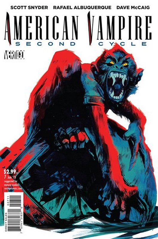 Cover of American Vampire (Vol 2) Second Cycle #7. One of 250,000 Vintage American Comics on sale from Krypton!