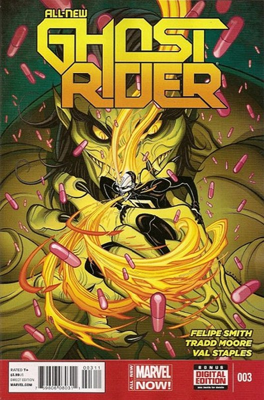 Cover of Ghost Rider (Vol 5) All-New #3. One of 250,000 Vintage American Comics on sale from Krypton!