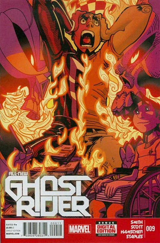Cover of Ghost Rider (Vol 5) All-New #9. One of 250,000 Vintage American Comics on sale from Krypton!