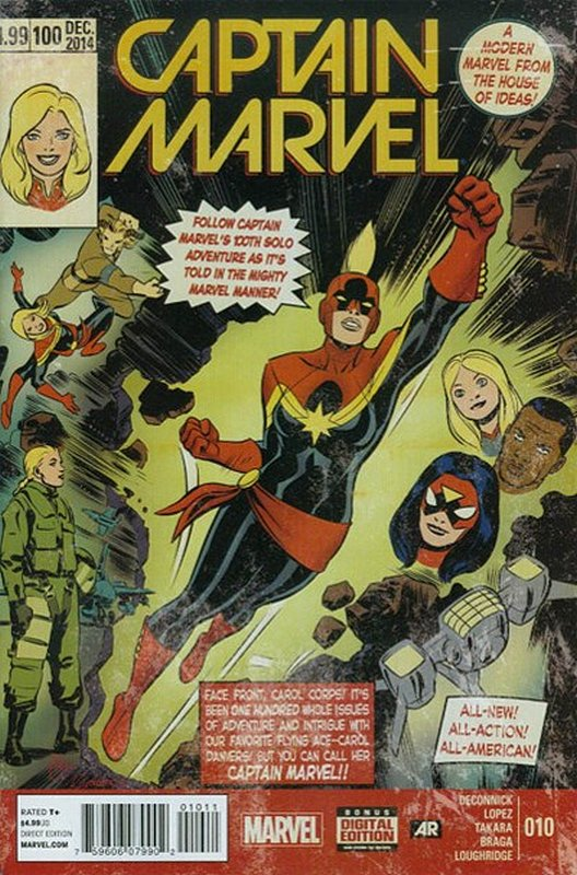 Cover of Captain Marvel (2014 Ltd) #10. One of 250,000 Vintage American Comics on sale from Krypton!