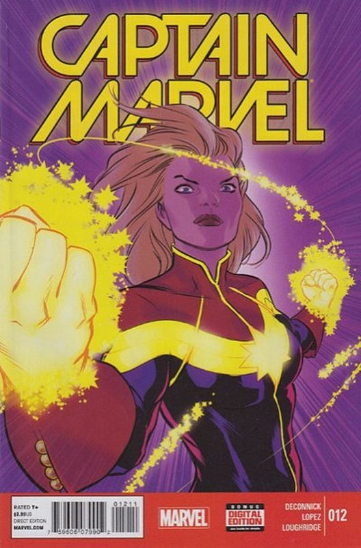 Cover of Captain Marvel (2014 Ltd) #12. One of 250,000 Vintage American Comics on sale from Krypton!