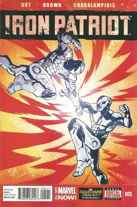 Cover of Iron Patriot (Vol 1) #5. One of 250,000 Vintage American Comics on sale from Krypton!