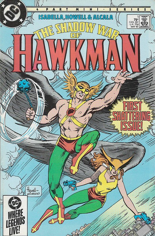 Cover of Hawkman (1985 Ltd) Shadow War of #1. One of 250,000 Vintage American Comics on sale from Krypton!