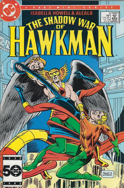 Cover of Hawkman (1985 Ltd) Shadow War of #3. One of 250,000 Vintage American Comics on sale from Krypton!