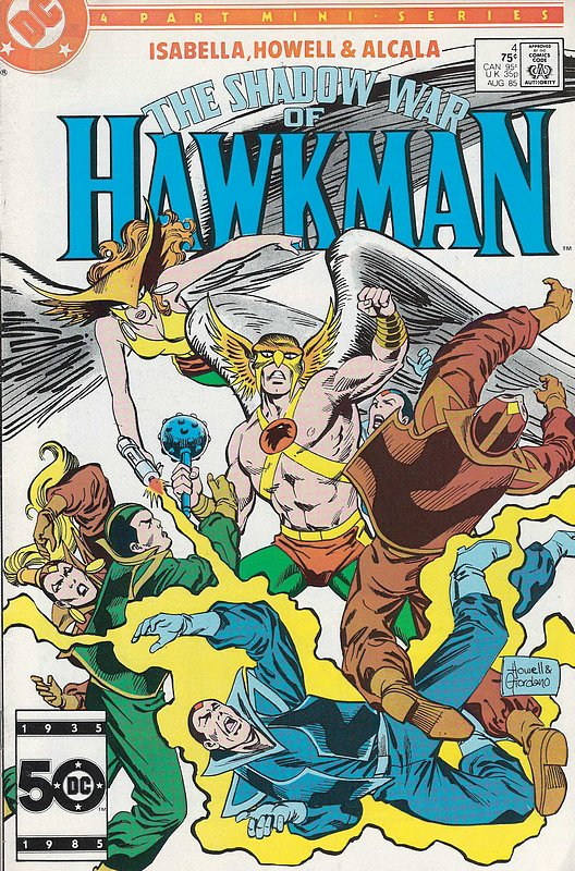 Cover of Hawkman (1985 Ltd) Shadow War of #4. One of 250,000 Vintage American Comics on sale from Krypton!