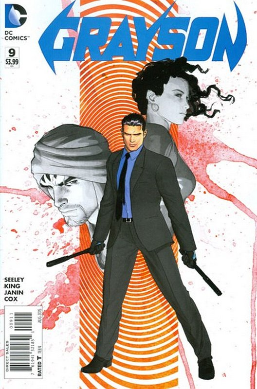 Cover of Grayson (Vol 1) #9. One of 250,000 Vintage American Comics on sale from Krypton!