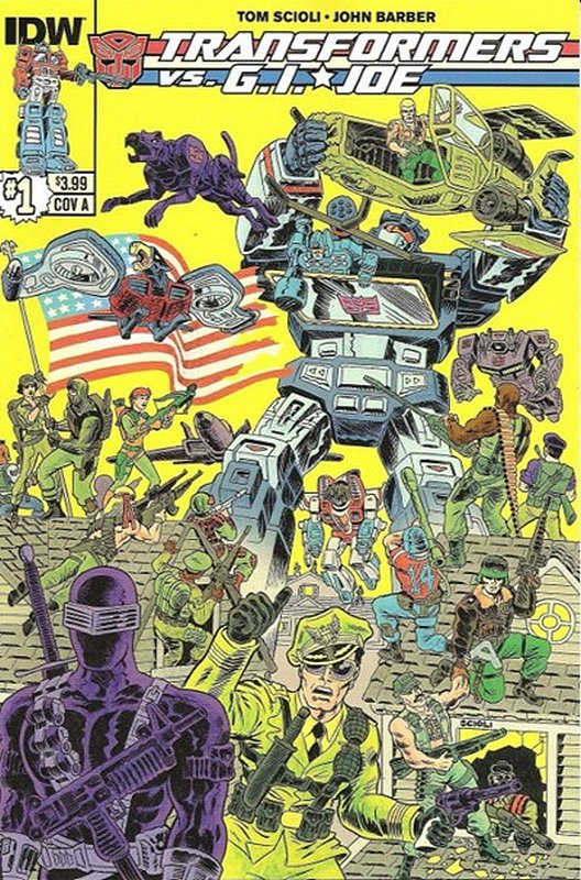 Cover of Transformers vs GI Joe (2014 Ltd) #1. One of 250,000 Vintage American Comics on sale from Krypton!