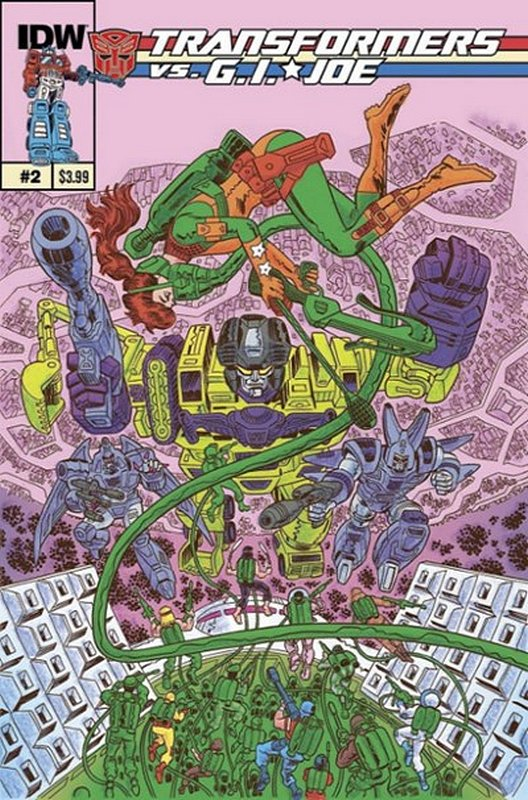Cover of Transformers vs GI Joe (2014 Ltd) #2. One of 250,000 Vintage American Comics on sale from Krypton!