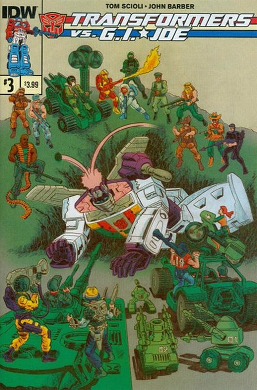 Cover of Transformers vs GI Joe (2014 Ltd) #3. One of 250,000 Vintage American Comics on sale from Krypton!