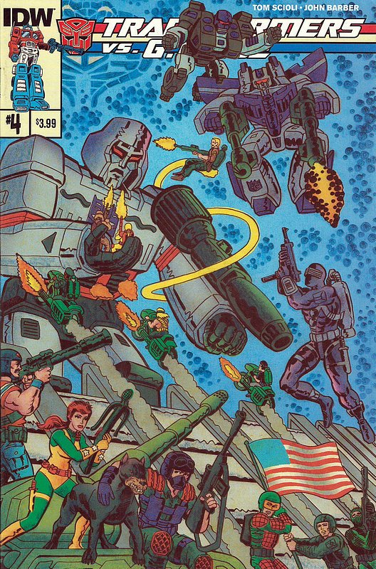 Cover of Transformers vs GI Joe (2014 Ltd) #4. One of 250,000 Vintage American Comics on sale from Krypton!