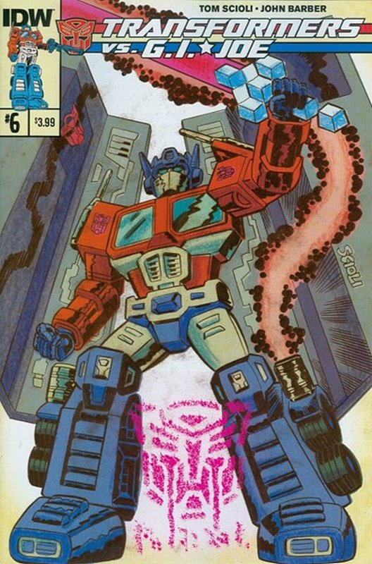 Cover of Transformers vs GI Joe (2014 Ltd) #6. One of 250,000 Vintage American Comics on sale from Krypton!