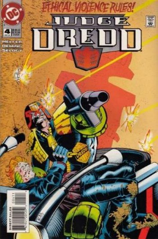 Cover of Judge Dredd (DC) (Vol 1) #4. One of 250,000 Vintage American Comics on sale from Krypton!