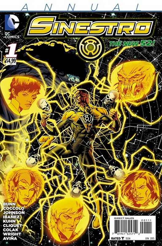 Cover of Sinestro (Annual 2015) #1. One of 250,000 Vintage American Comics on sale from Krypton!