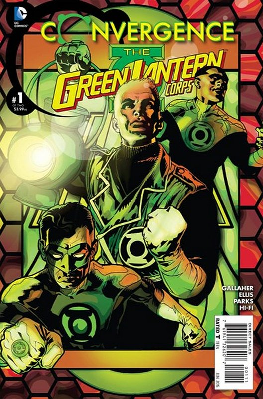 Cover of Convergence: Green Lantern Corp (2015 Ltd) #1. One of 250,000 Vintage American Comics on sale from Krypton!