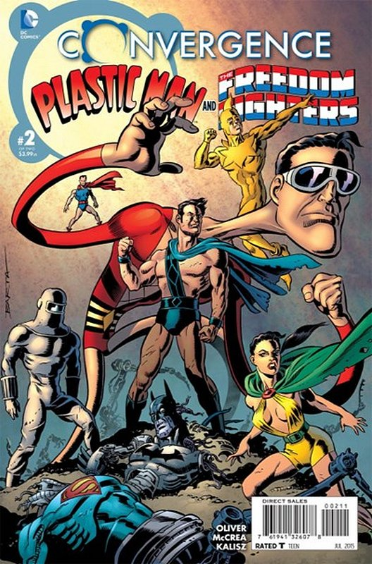 Cover of Convergence: Plastic Man Freedom Fighters #2. One of 250,000 Vintage American Comics on sale from Krypton!