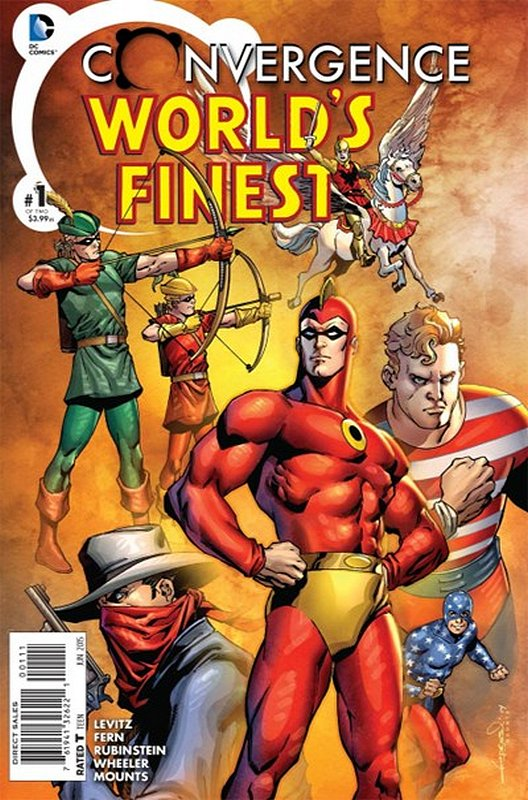 Cover of Convergence: Worlds Finest Comics (2015 Ltd) #1. One of 250,000 Vintage American Comics on sale from Krypton!