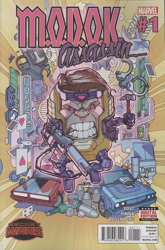Cover of Modok assassin (2015 Ltd) #1. One of 250,000 Vintage American Comics on sale from Krypton!