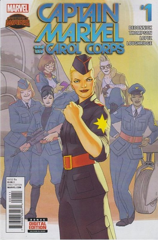 Cover of Captain Marvel & Carol Corps (Vol 1) #1. One of 250,000 Vintage American Comics on sale from Krypton!