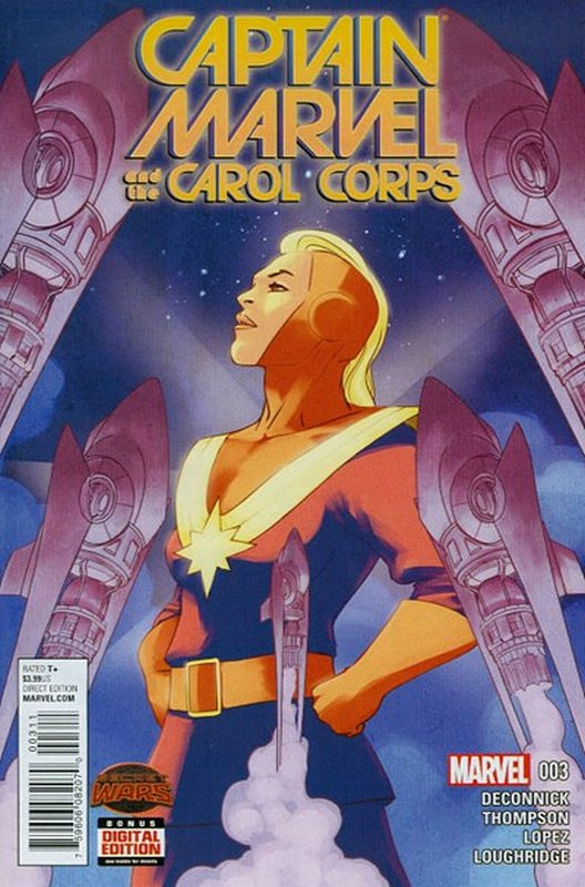 Cover of Captain Marvel & Carol Corps (Vol 1) #3. One of 250,000 Vintage American Comics on sale from Krypton!