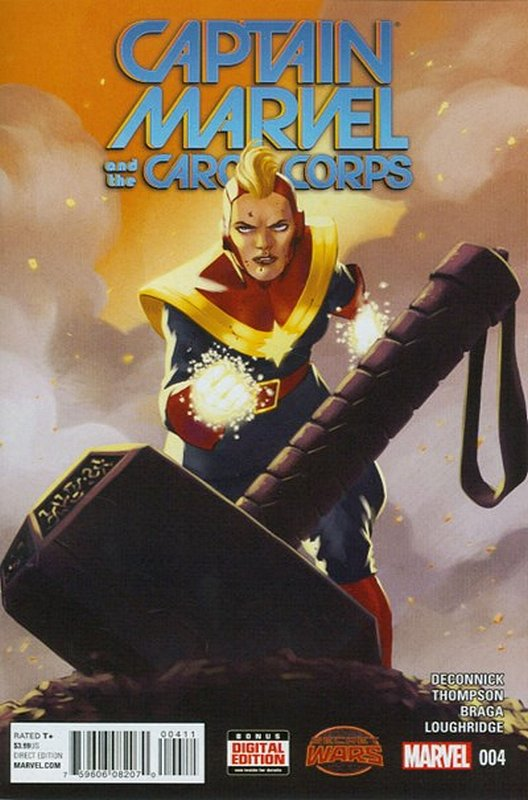 Cover of Captain Marvel & Carol Corps (Vol 1) #4. One of 250,000 Vintage American Comics on sale from Krypton!