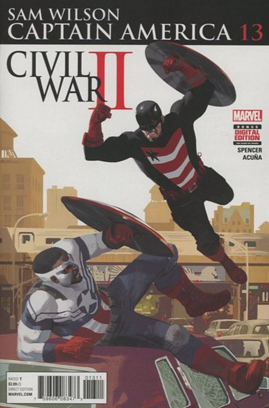 Cover of Captain America: Sam Wilson (Vol 1) #13. One of 250,000 Vintage American Comics on sale from Krypton!