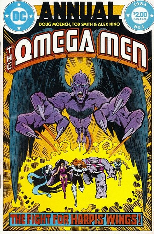 Cover of Omega Men Annual (Vol 1) #1. One of 250,000 Vintage American Comics on sale from Krypton!
