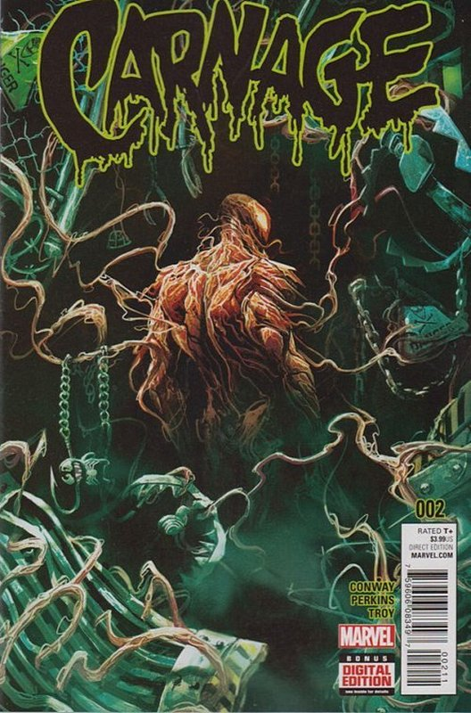 Cover of Carnage (Vol 1) #2. One of 250,000 Vintage American Comics on sale from Krypton!