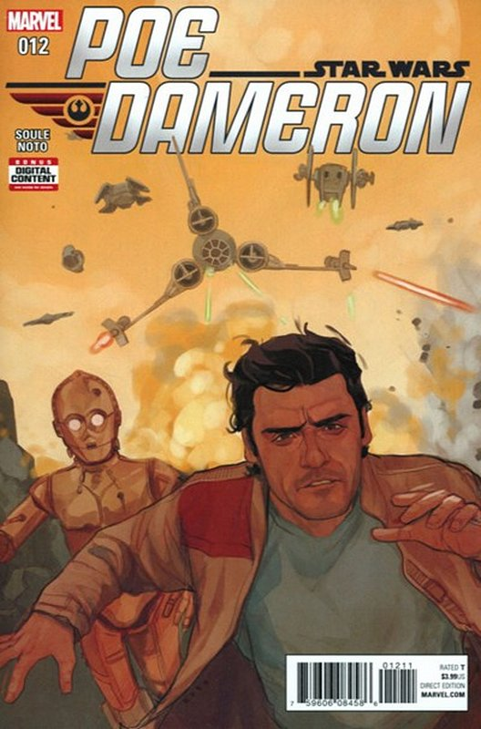 Cover of Star Wars: Poe Dameron #12. One of 250,000 Vintage American Comics on sale from Krypton!