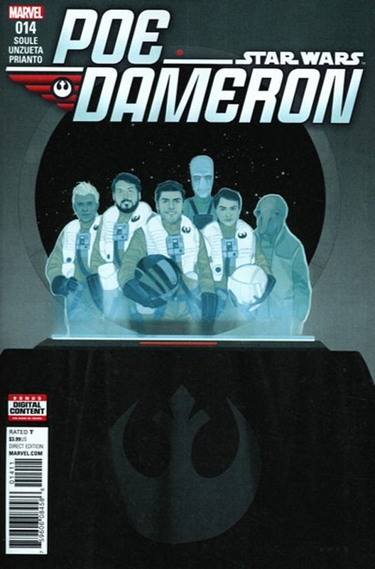 Cover of Star Wars: Poe Dameron #14. One of 250,000 Vintage American Comics on sale from Krypton!