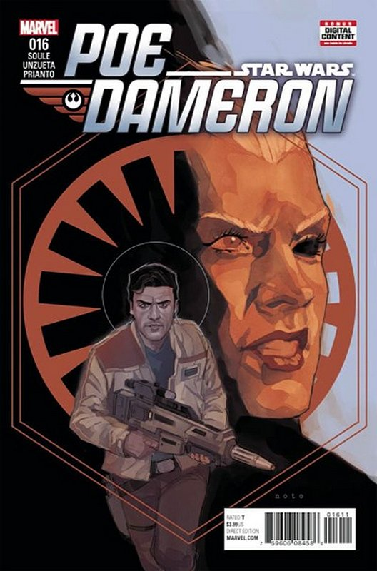 Cover of Star Wars: Poe Dameron #16. One of 250,000 Vintage American Comics on sale from Krypton!
