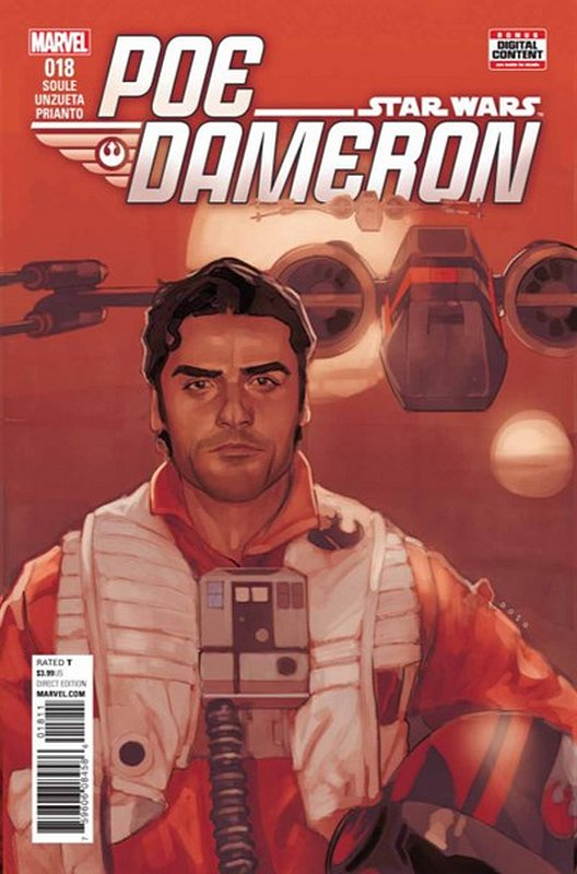 Cover of Star Wars: Poe Dameron #18. One of 250,000 Vintage American Comics on sale from Krypton!