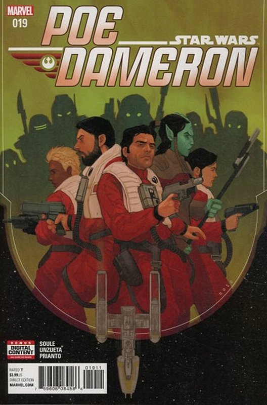 Cover of Star Wars: Poe Dameron #19. One of 250,000 Vintage American Comics on sale from Krypton!